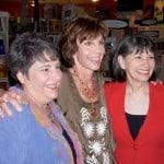 Cousin Marla Krull, daughter-in-law Sally Bosse, Gloria Feldt.