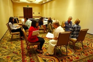 Setting Goals in pairs at She Negotiates Retreat