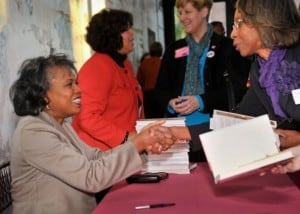 Ania Hill signing her new book