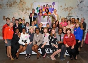 Anita Hill party organizers with Hill